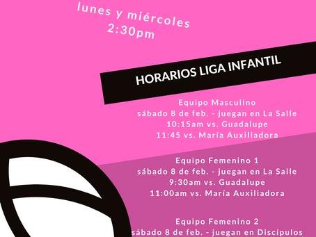 Anuncios Depto. Atlético (3-8 febrero)