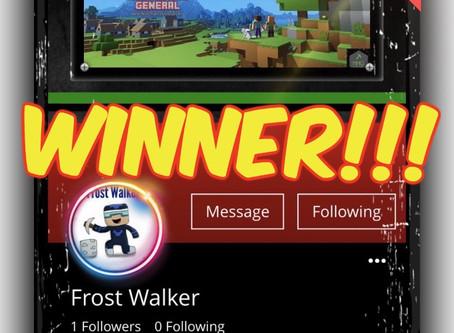 "Congratulations ""Frost Walker""!!!"