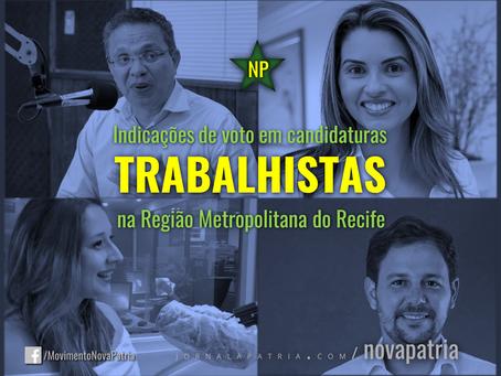 Indicações de votos em candidaturas trabalhistas na Região Metropolitana do Recife