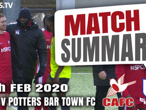 Match summary - Potters Bar Town