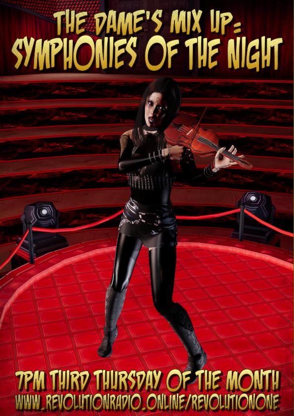 TDMU: Symphonies of the Night thursday at 7pm on revolutionONE on revolutionradio.online