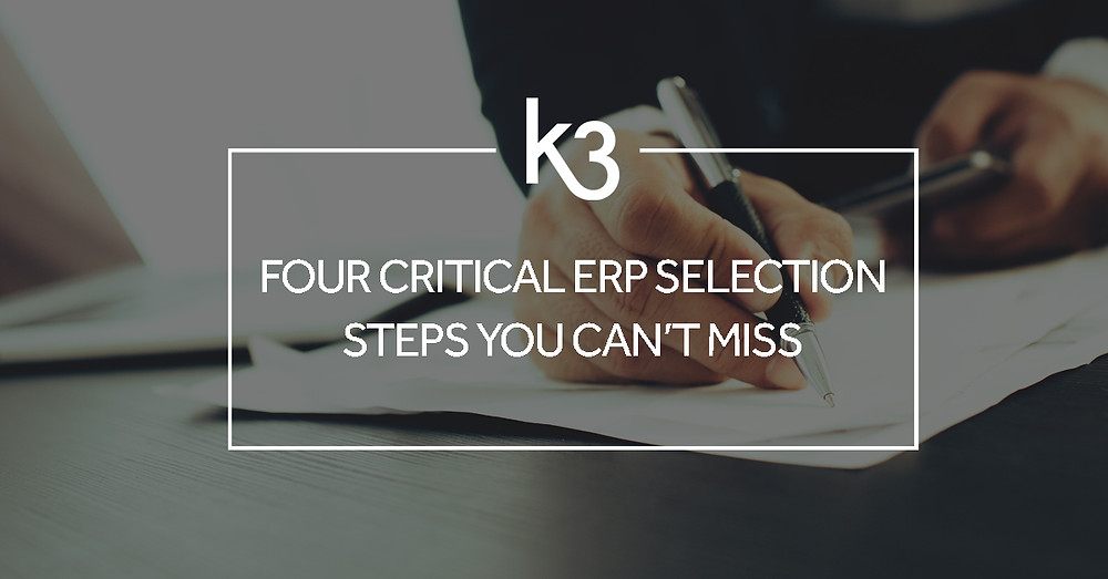 four critical ERP selections steps you can't miss