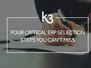 Four Critical ERP Selection Steps You Can't Miss