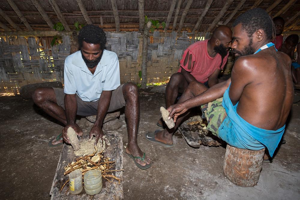 racine de kava , preparation traditionnel , boisson indonésienne