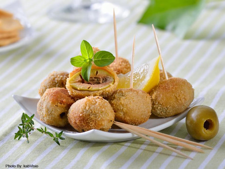Deep fried Olives from Italy