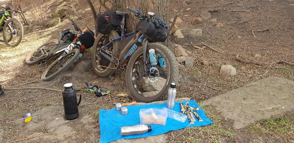 Bikepacking coffee stop.