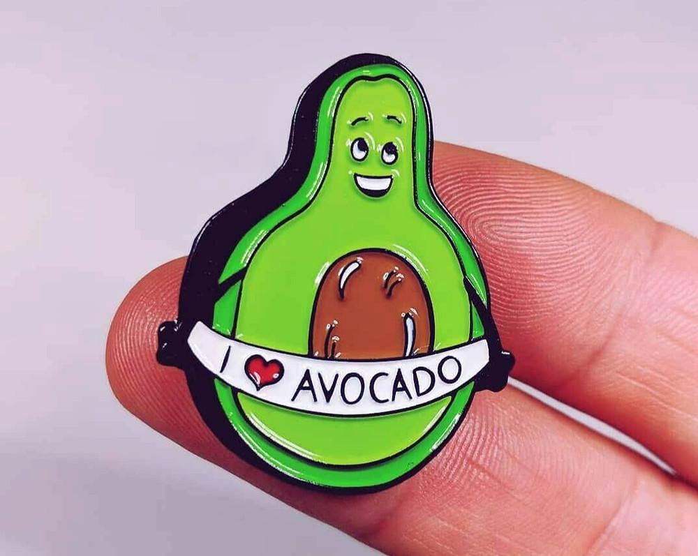 avocado pin badge