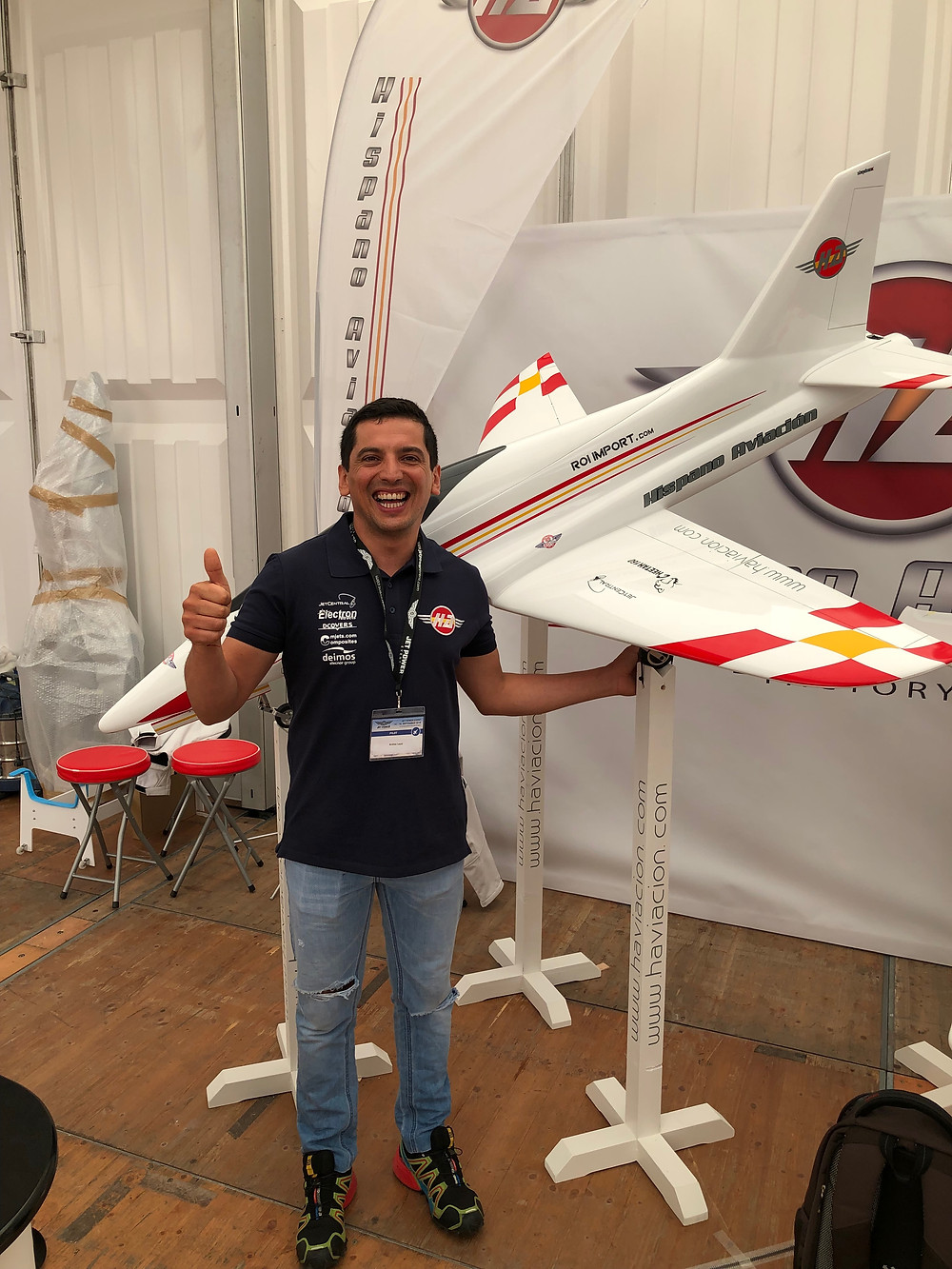 Andres Leoni, Hispano Aviation display pilot and Spanish F3S champion