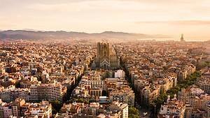 Barcelona's skyline including Gaudi's Segrada Familia