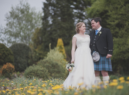 Victoria & Mike at Old Down estate