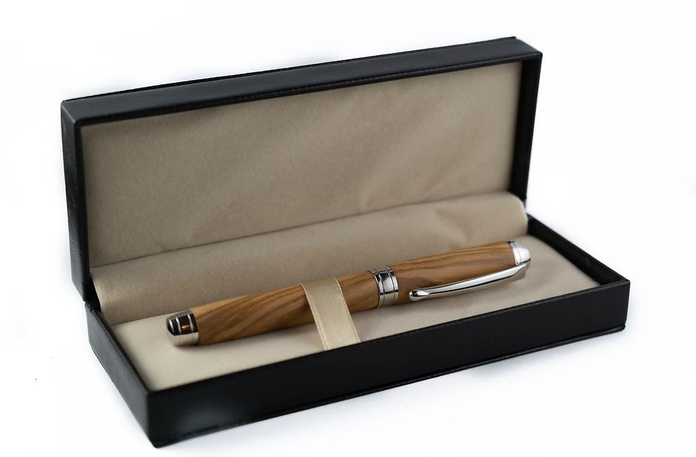 Luxury Fountain Pen, Wooden Fountain Pen, Olive Fountain Pen