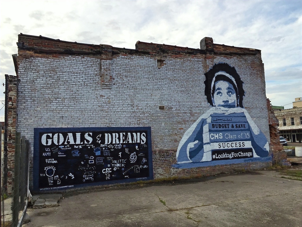 Mural by Ruben Rojas in Clarksdale, Mississippi for American Express