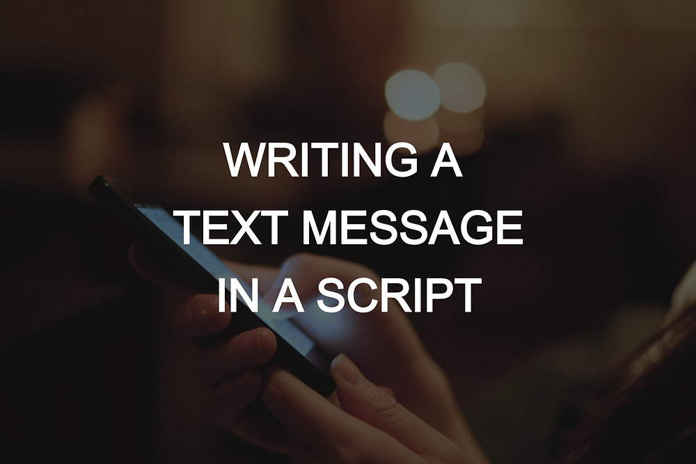 Writing a text message in a script