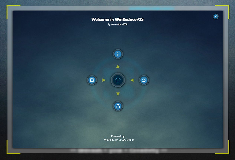 WinReducerOS Control Panel Interface