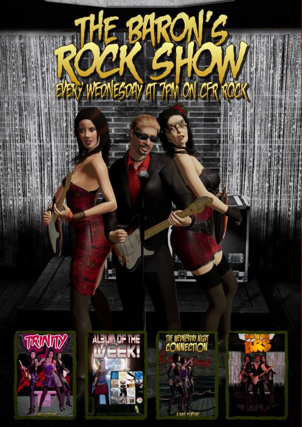 Promo for the Baron's Rock Show on Crossfire Radio