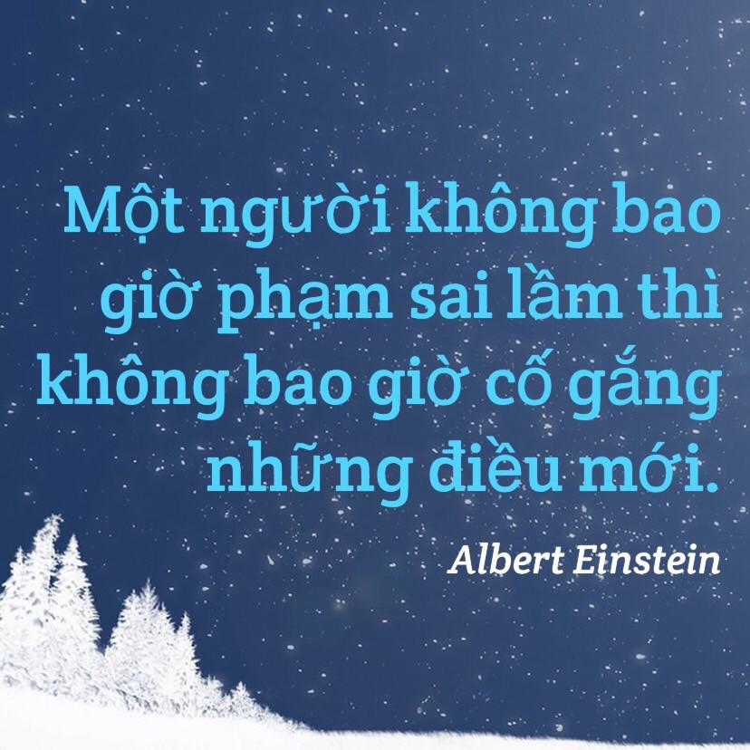 Cố gắng những điều mới Albert Einstein