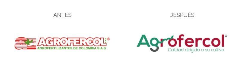 Rebranding o rediseño de logo de marca Agrofercol Agrofertilizantes de Colombia SAS