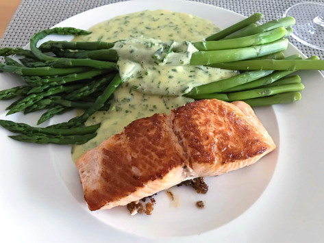 Salmon And Asparagus With Best Keto Sauce