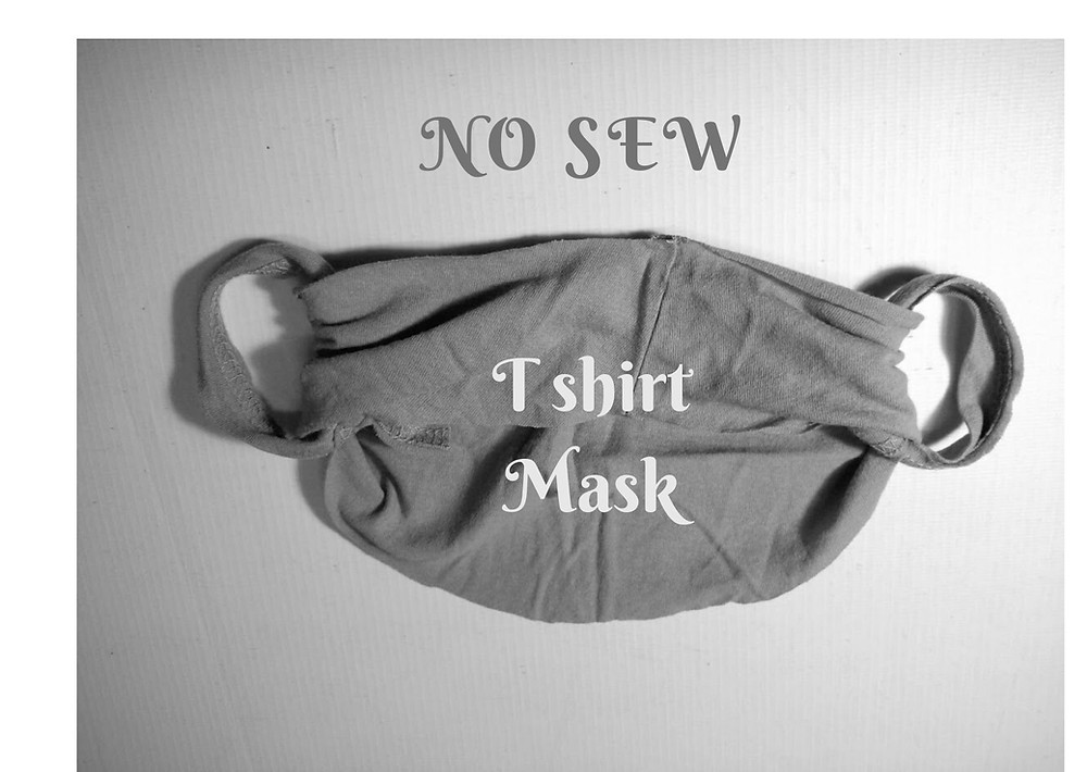 No sew t shirt mask