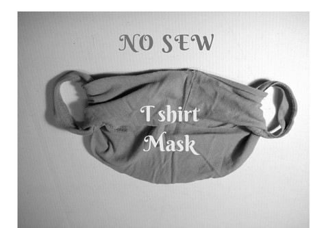 Another simple no sew t shirt mask