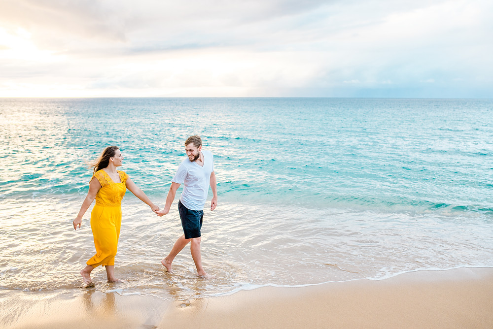 maui Hawaii engagement pictures