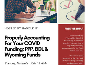 Accounting For COVID Funding - FREE Webinar
