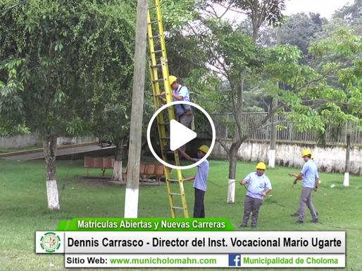 Inst. Mario Ugarte listo para matricular a los jóvenes cholomeños que quieran optar por una carrera.