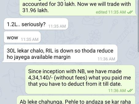 Profit ₹2,56,000/- for July 2020