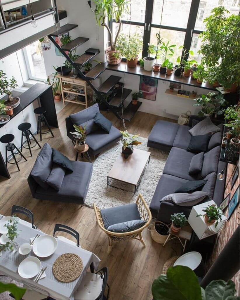 industrial style flat how to warm up