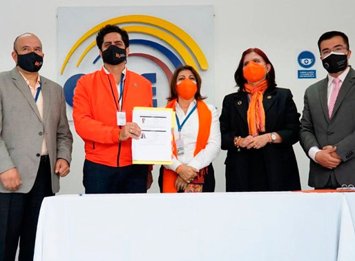 CNE aprueba inscripción del binomio presidencial de la Izquierda Democrática
