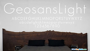 Font Geosans Light Free