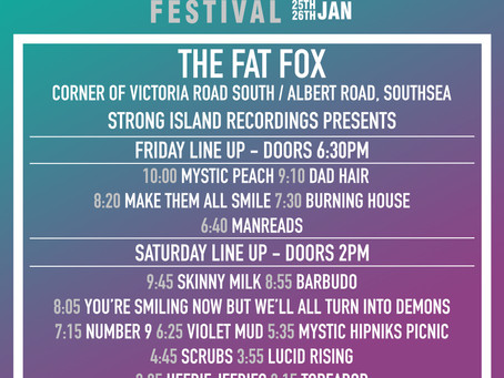 The Fat Fox Stage Times!