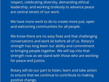 Rotary Statement - June 2020
