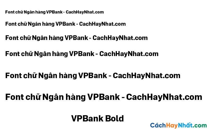 Font VPBank Bold