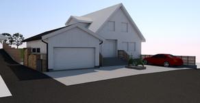 Ny garasje med uteområde på Randaberg