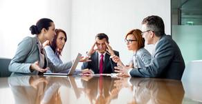 Ingrijpen tijdens een vergadering