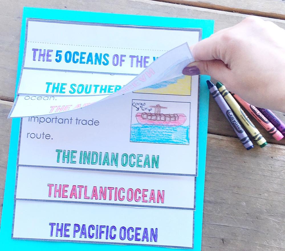 Oceans of the World Flip Book