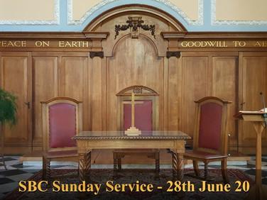 Sunday Service - 28 June 20