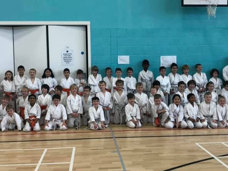 York Karate celebrate success at the last grading course of the year