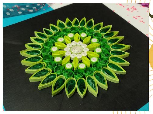 Paper Quilling Mandala - Green