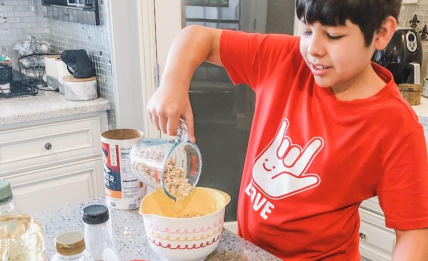Cooking with Kids- Vanilla & Cinnamon Granola