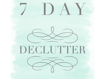 Happy New Year - the perfect time to de-clutter!
