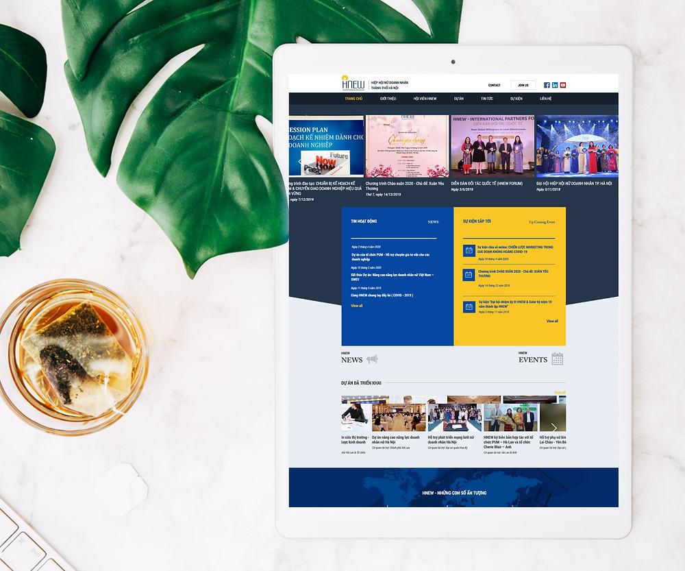 Thiết kế website Hiệp hội nữ doanh nhân Hà Nội do Gen Media thiết kế