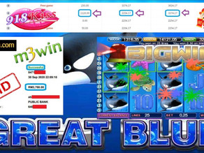 Great Blue slot game tips to win RM3700 in 918kiss