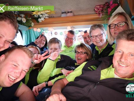 Lebhafter Erfolg vor den Türen des Raiffeisen-Marktes in Uelsen auf dem Frühlingsfest am 28.04.2019.