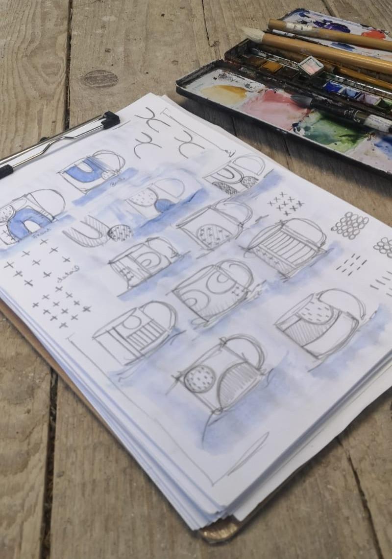 MAKA Ceramics, Ceramic Tableware Design, Irish Pottery, Drawing, Sketches, Coffee Cups