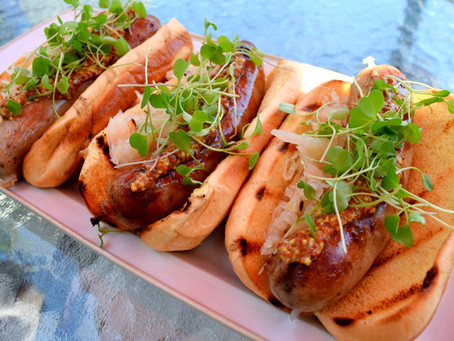Bratwurst with Beer-Braised Sauerkraut