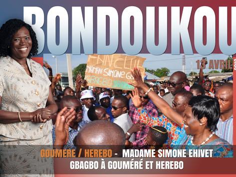 MADAME SIMONE EHIVET GBAGBO À GOUMÉRÉ ET HEREBO