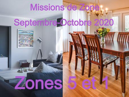 Zones : Missions semaine 40- Zones 5 et 1