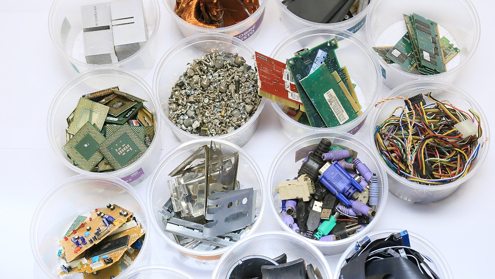 e-waste or electronic waste. can it be recycled? metal separations, volume of e-wastes. risks. Global Warming. Climate Coping.